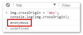 crossOrigin 解析为 anonymous