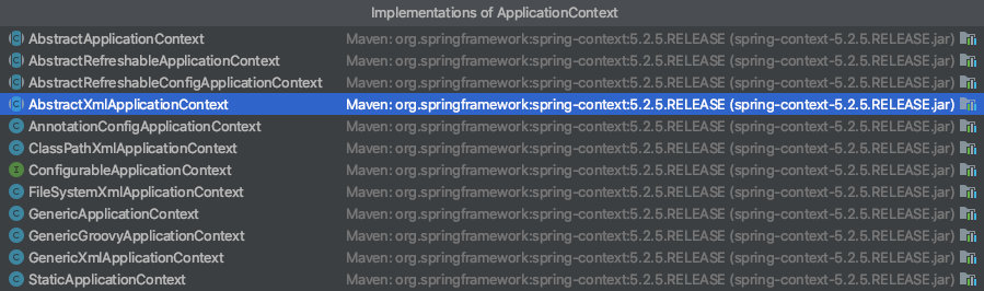ApplicationContext接口的实现类