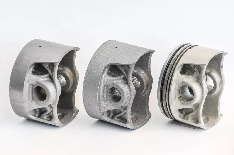 ◎ 3D 打印的活塞仍需要热处理和机械加工