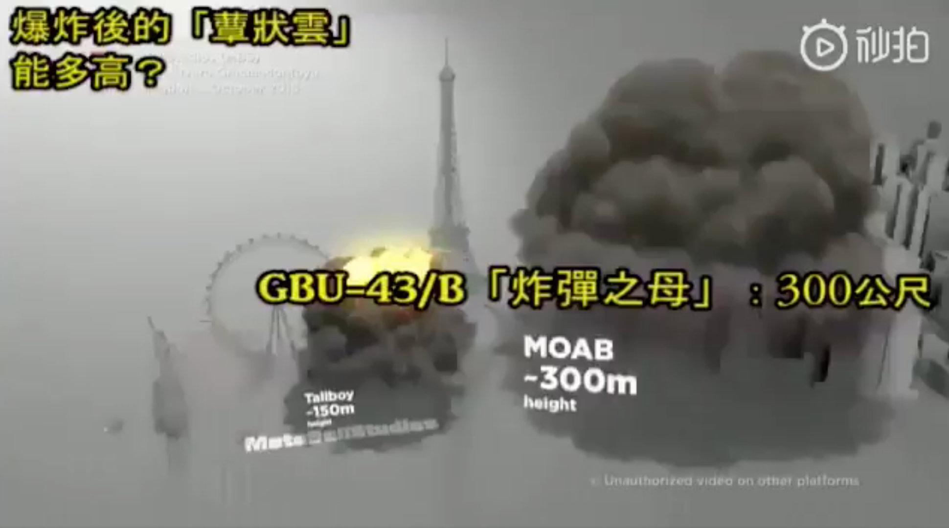 ◎ 不同类型的炸弹威力