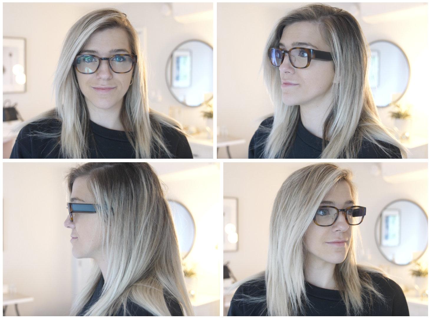 ◎ 从各个角度查看眼镜