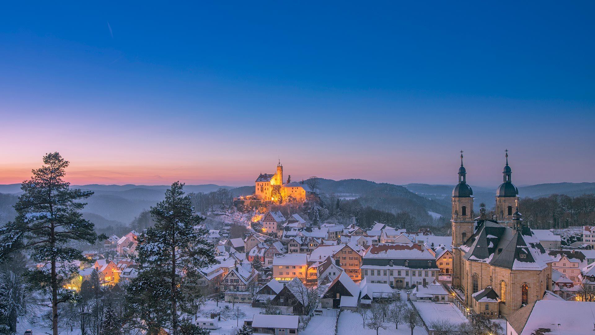 远眺格斯韦因斯泰因村和格斯韦因斯泰因城堡 格斯韦因斯泰因村