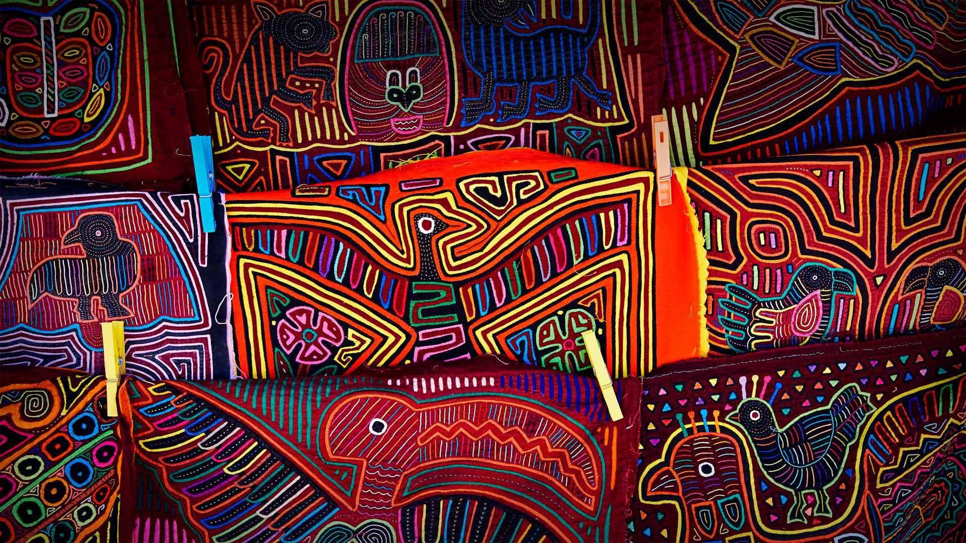 库纳族人的手工艺品库纳族