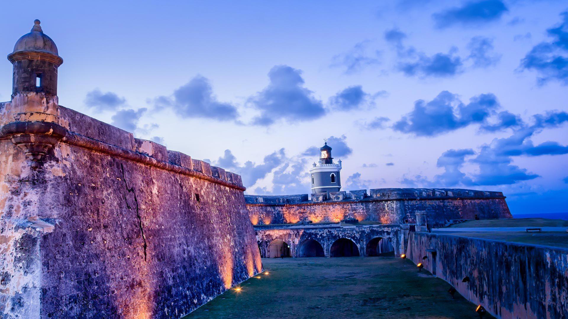波多黎各旧圣胡安的Castillo del Morro