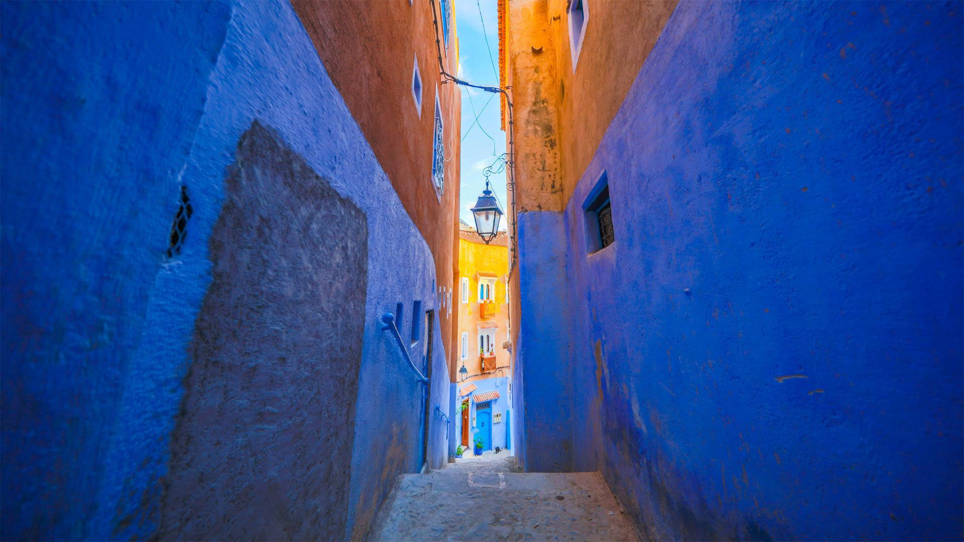 舍夫沙万的蓝色墙壁