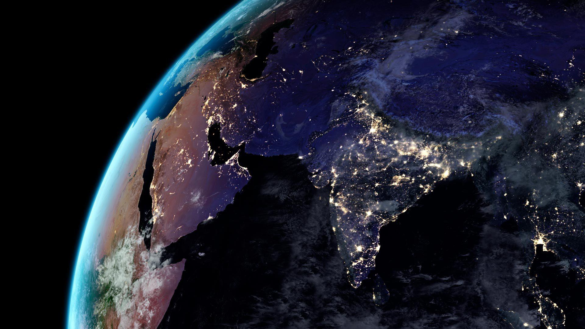 夜晚的地球