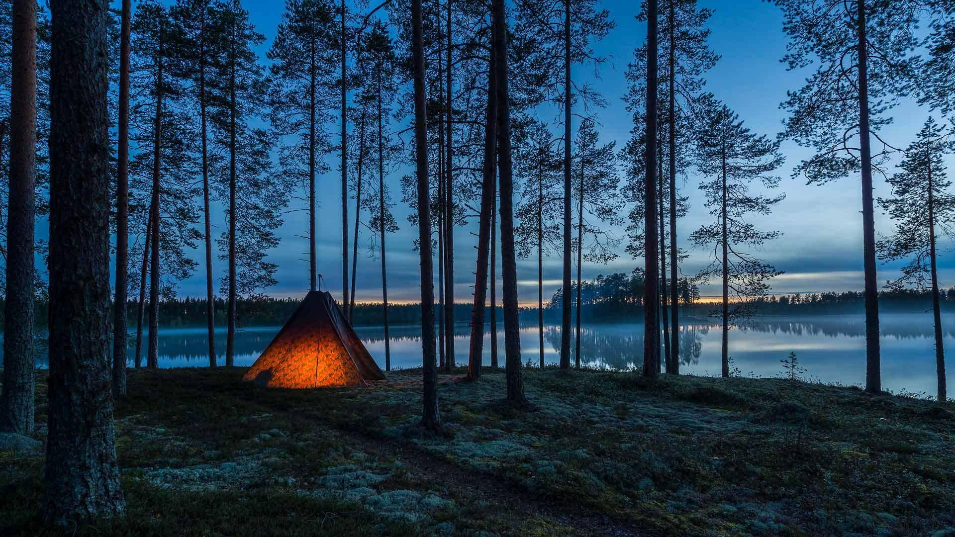 芬兰东部的Muje-Oulu湖