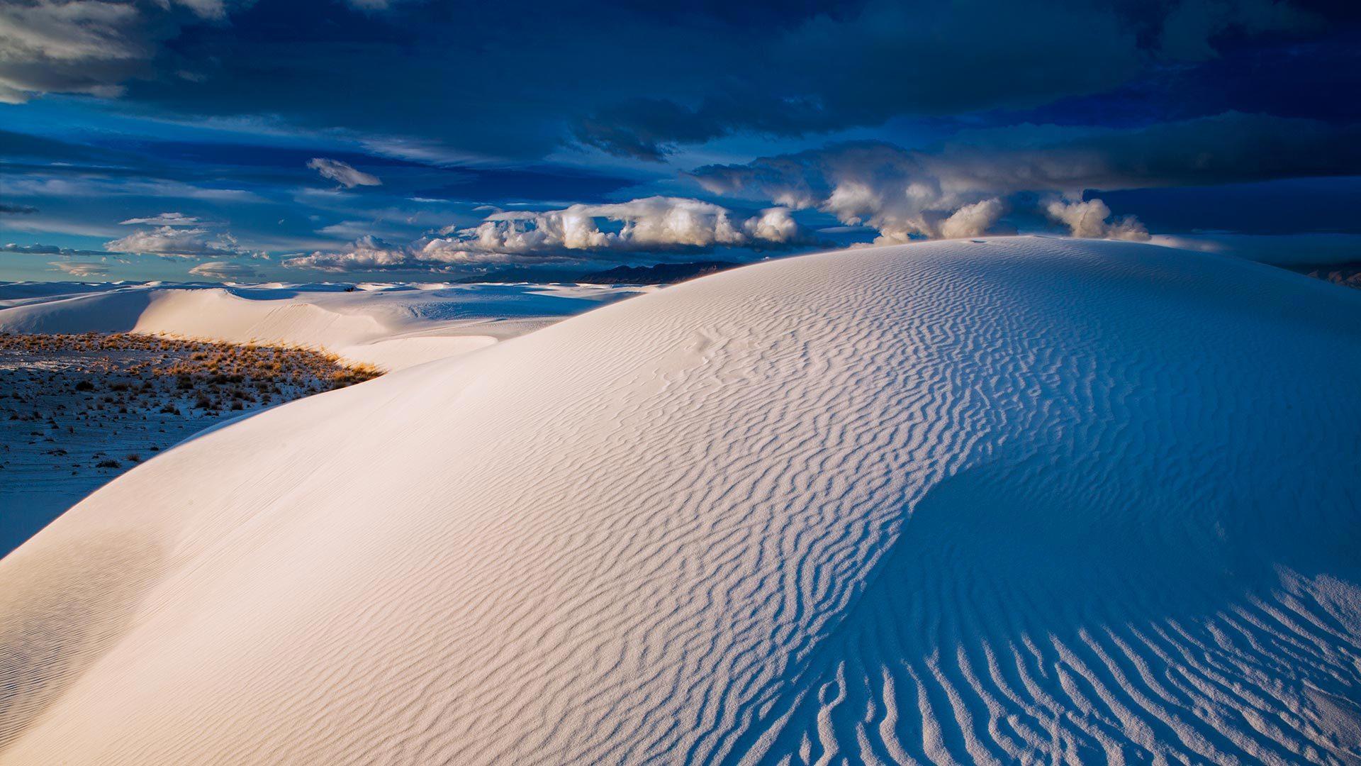 白沙国家公园中的石膏沙丘石膏沙丘