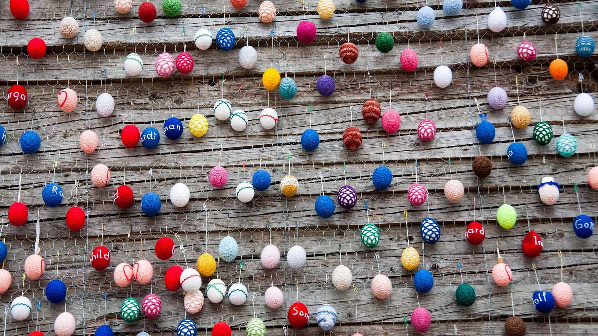 柏林亚历山大广场的复活节装饰复活节