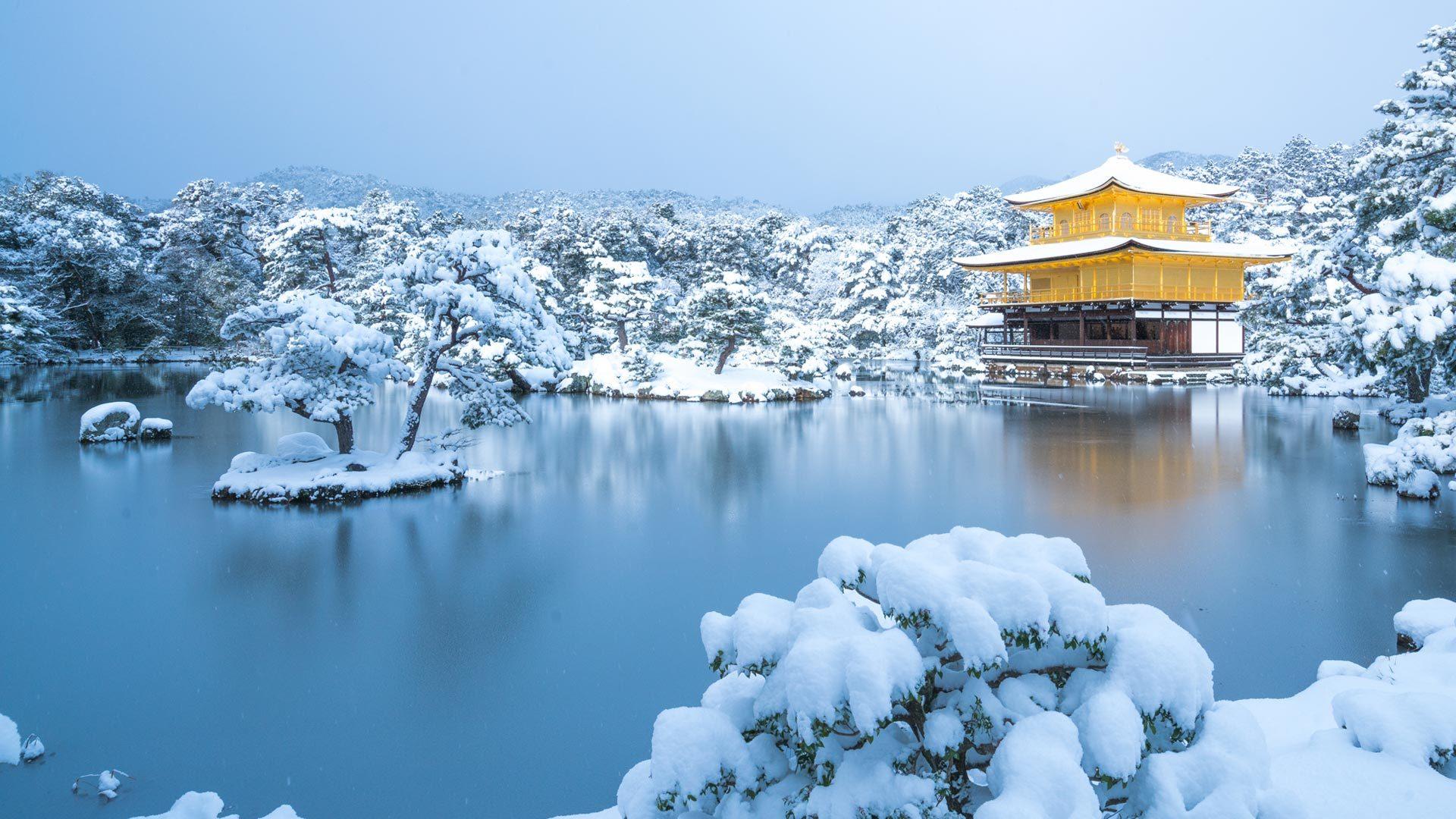 冬天的金阁寺金阁寺