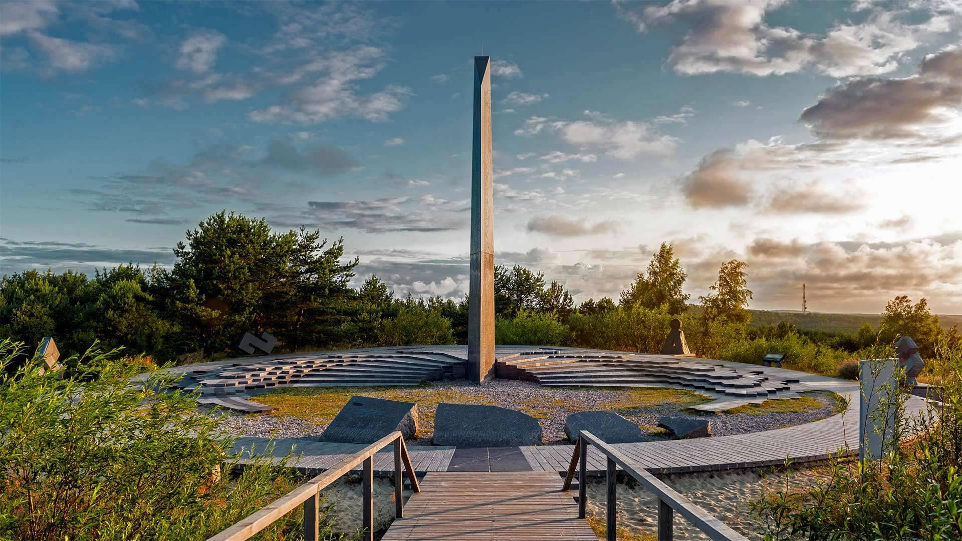 帕尼迪斯沙丘上的日晷,库尔斯沙嘴库尔斯沙嘴