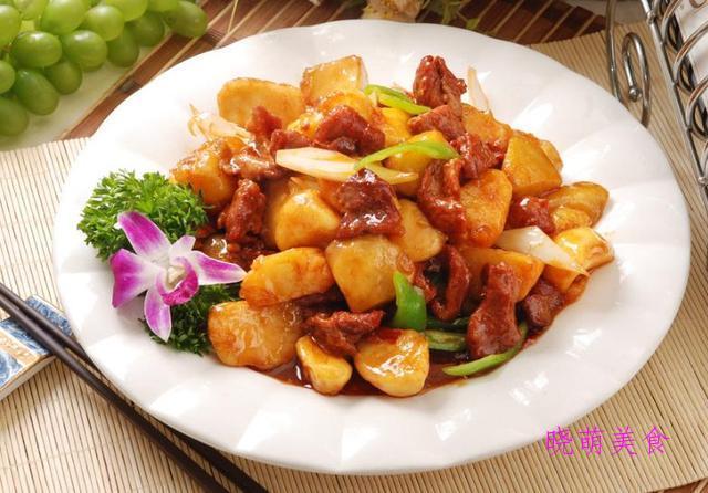 土豆烧牛肉、炒鸡、红烧肉、熘肉段的家常做法,咸香美味
