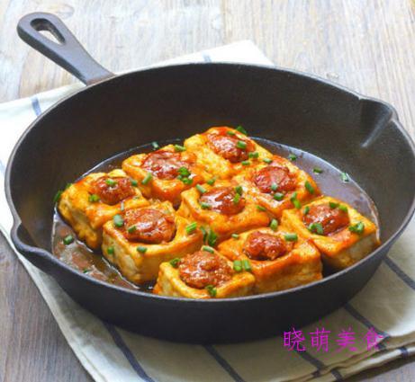 小葱拌豆腐、香煎豆腐、酿豆腐、茄汁豆腐、肉末蒸豆腐、浇汁豆腐