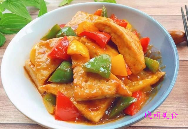 青椒炒豆腐、香辣水煮鱼、家常豆干、花菜炒肉的美味做法