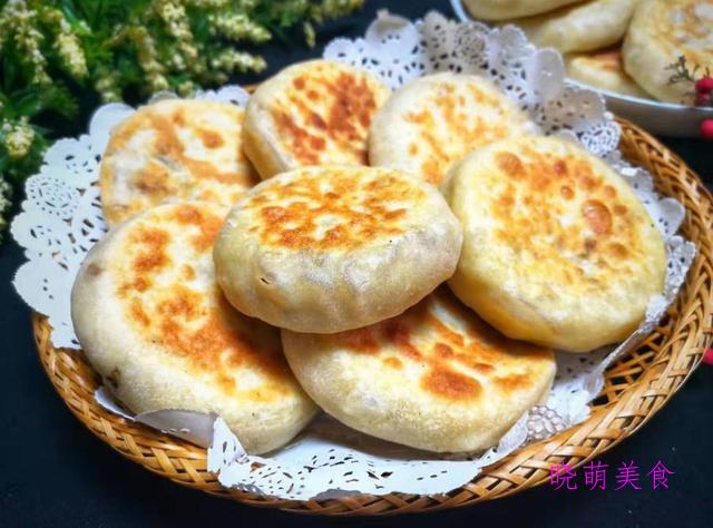 牛肉夹馍、猪肉大葱馅饼、葱花油饼、地瓜饼的家常做法,营养美味