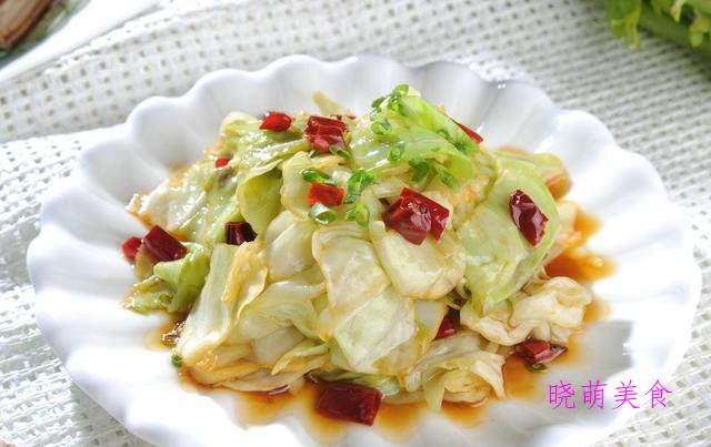 辣炒圆白菜、丝瓜炒蛋、韭菜炒香干、香菇炒油菜的家常做法