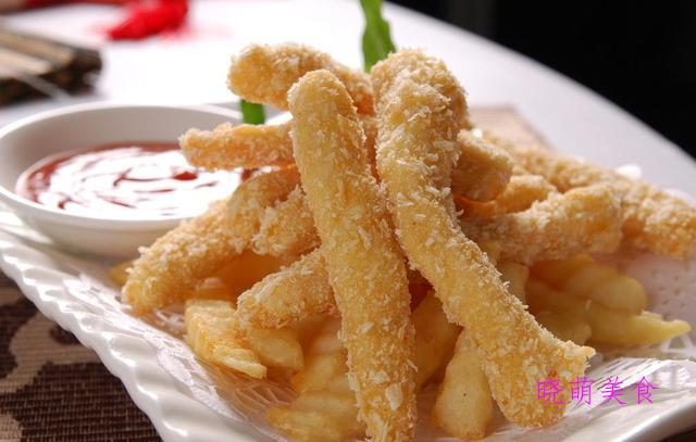 炸猪柳、孜然鸡柳、炸翅中、豆沙春卷、香酥龙利鱼的做法