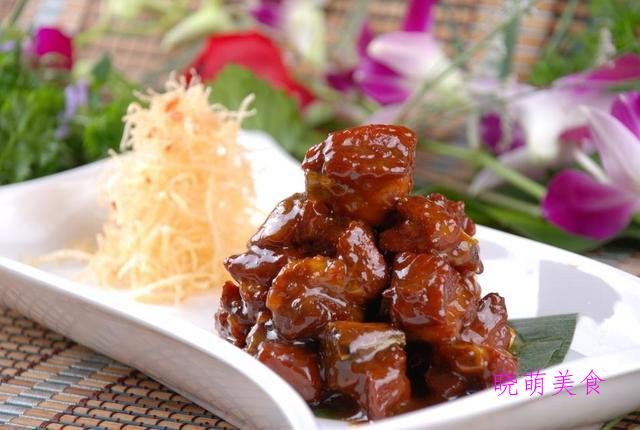 粉丝蒸虾、广式糖醋排骨、白灼海虾、竹笋烧肉的做法