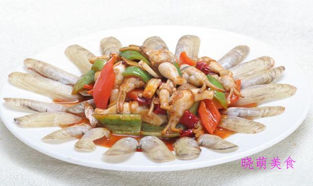 板栗焖鸡、爆炒肥牛、韭菜炒猪肝、辣炒蛏子的家常做法