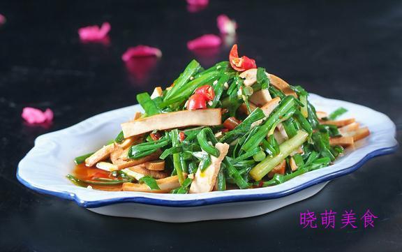 辣炒萝卜干、蒜香花甲、韭菜炒香干、青椒炒肉的做法