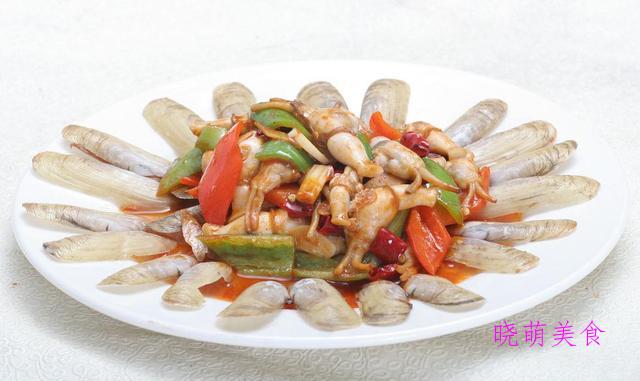 爆炒蛏子、酸菜白肉、梅子小排、香辣熏鱼的家常做法
