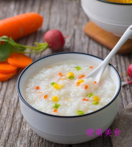 香菇胡萝卜粥、火腿粥、栗子山药粥、鸡丝粥、陈皮瘦肉粥的做法