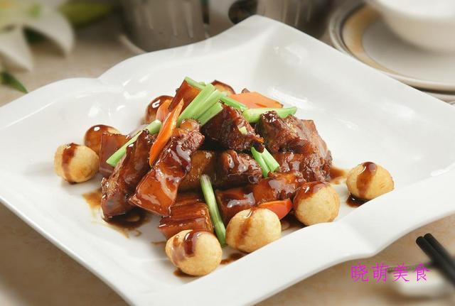 鹌鹑蛋烧肉、烧五花肉、干豆角炒肉、火爆猪肝、葱烧鲳鱼的做法