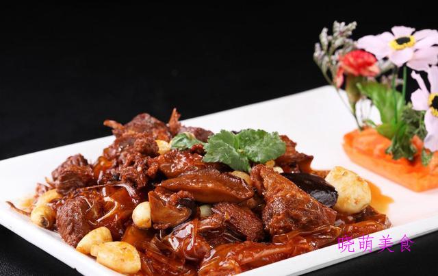 广式焖牛腩、土豆焖鸡、辣子兔丁、尖椒肥肠的家常做法