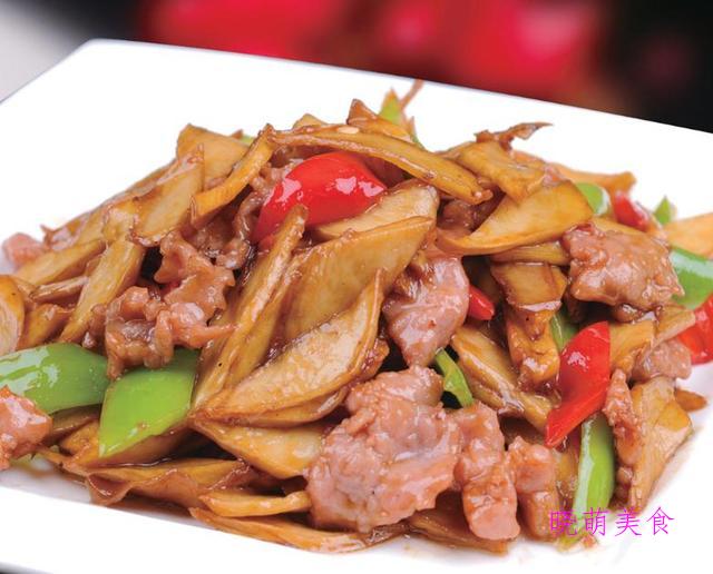彩椒排骨、特色炒肉、红烧鸡胗、榨菜肉丝的家常做法