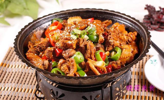 洋葱爆腰花、椒盐牛肉、土豆地锅鸡的家常做法