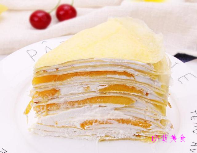 原味蛋糕、芒果千层蛋糕、百香果蛋糕、蓝莓酸奶蛋糕