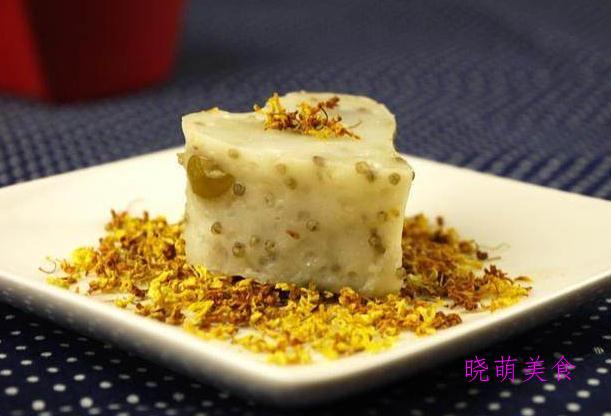 莲藕桂花糕、红枣蛋糕、开花米糕、老北京驴打滚、粘豆包的做法