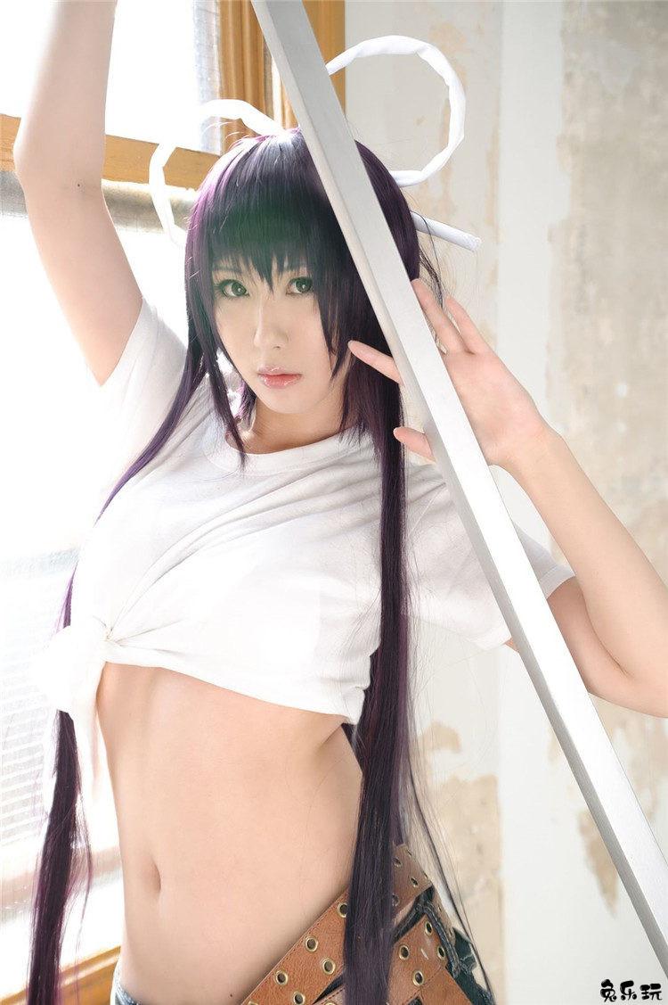 """屈指可数的身材火辣高挑美女cosplay,魔法禁书目录""""神裂火织"""""""