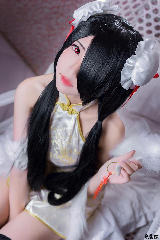 性感黑丝美腿女神cosplay旗袍时崎狂三魅惑写真(31P)