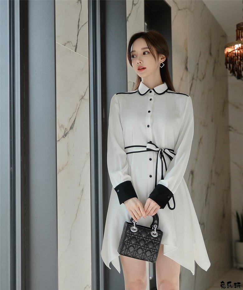 韩国模特孙允珠女神图集:简式裁剪挪威白皙蒲公英衣裙 (19P)