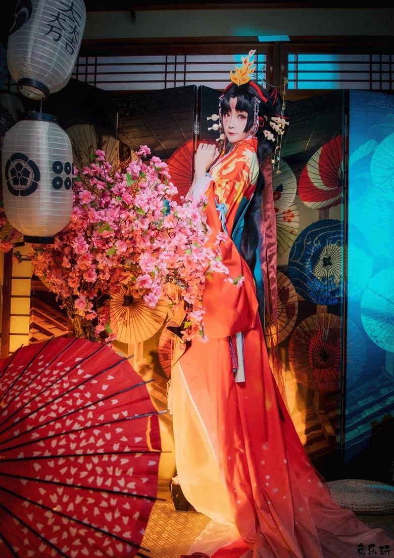 【cosplay美女】微博yui金鱼作品合集丨不知火-蝶步韶华