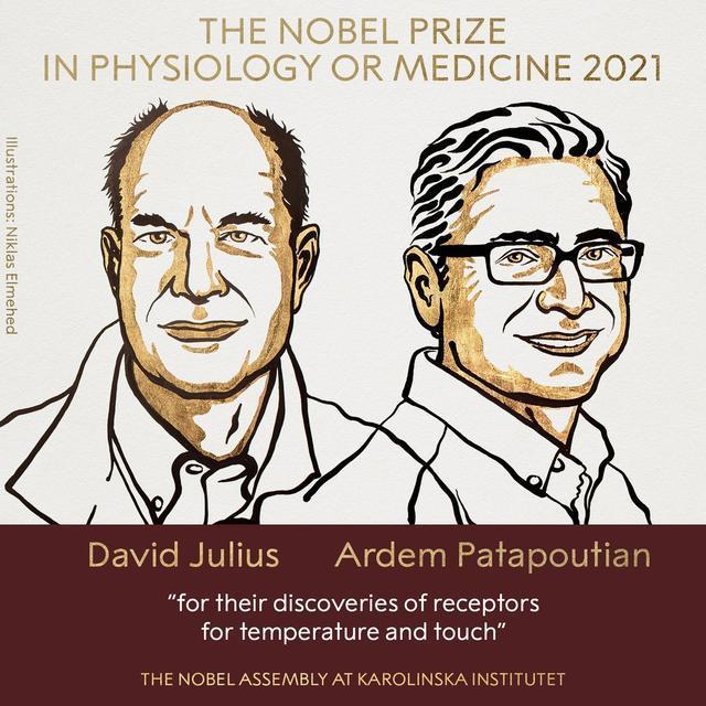 诺贝尔生理学或医学奖揭晓(两位科学家获奖)