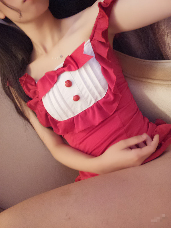 网红少女@你的喵喵呀i – 红色泳衣 [78P/288M]