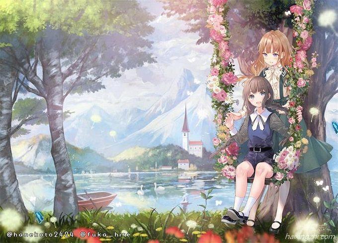 P站日本画师はねこと插画,风格多变的妹子们,一画一世界_14