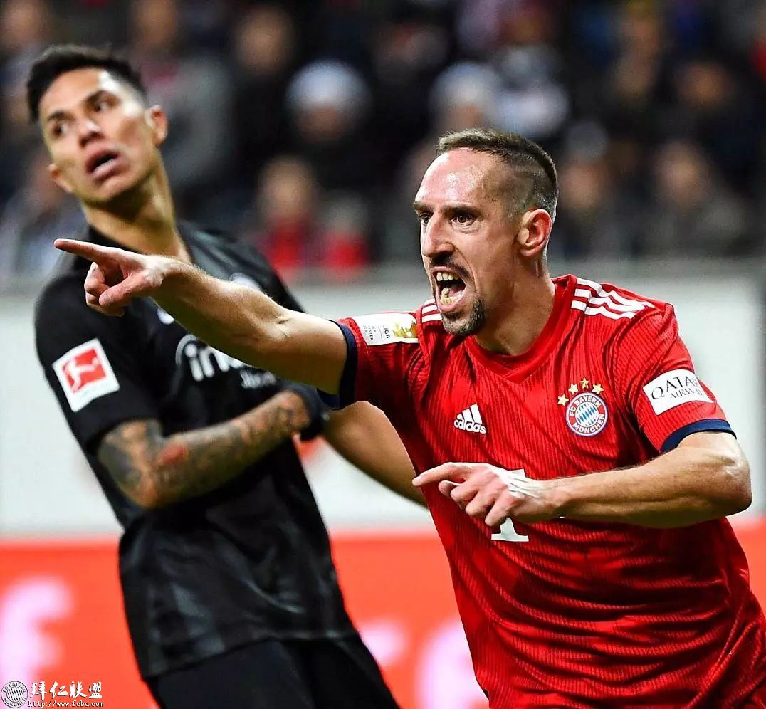 德甲第17轮 拜仁3:0法兰克福 国王两球取联赛5连胜1