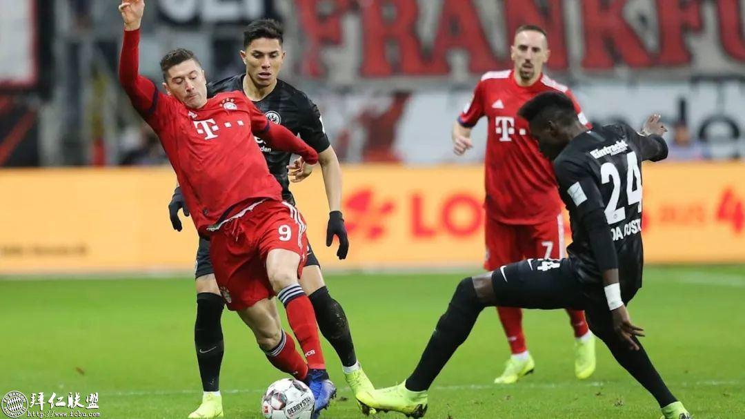 德甲第17轮 拜仁3:0法兰克福 国王两球取联赛5连胜5