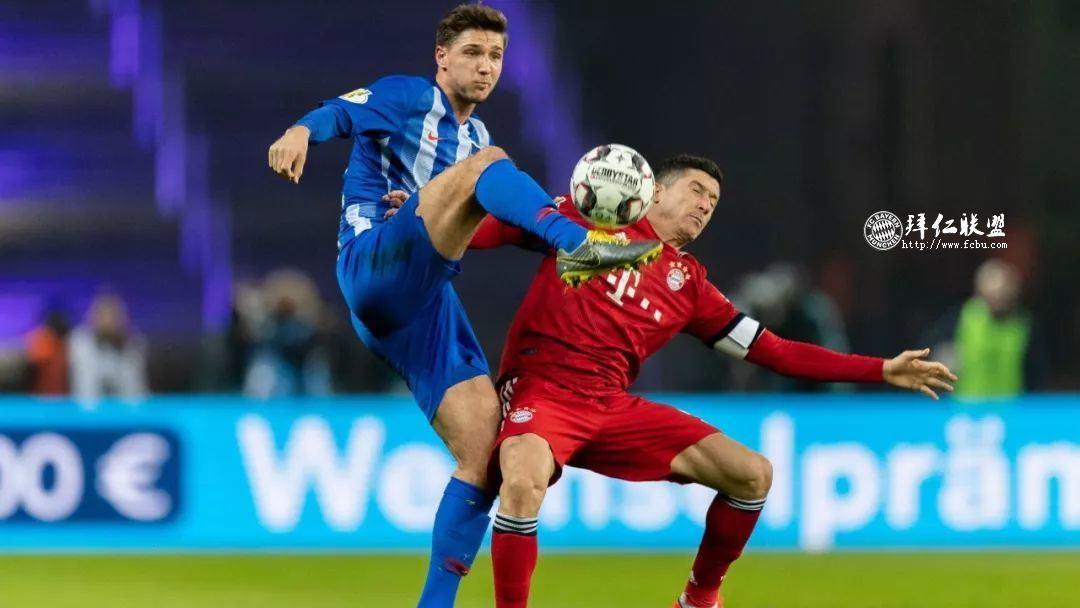 挺进德国杯八强 赫塔2:3拜仁 格纳布里两球 科曼加时制胜7