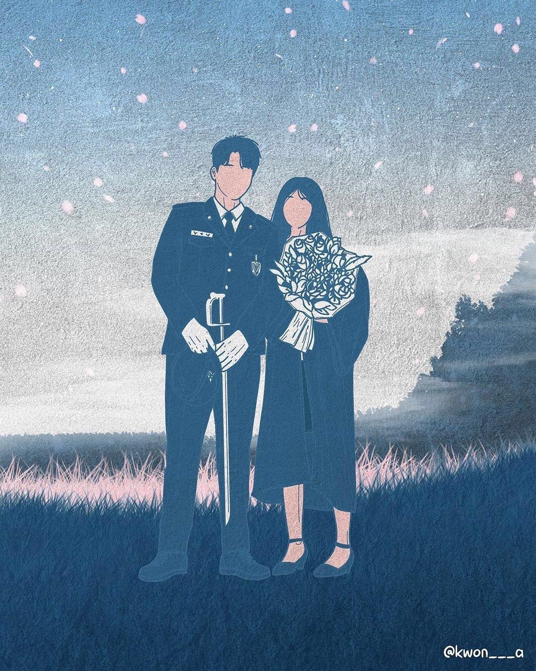 韩国插画师kwon___a笔下的情侣亲密照 涨姿势 第16张