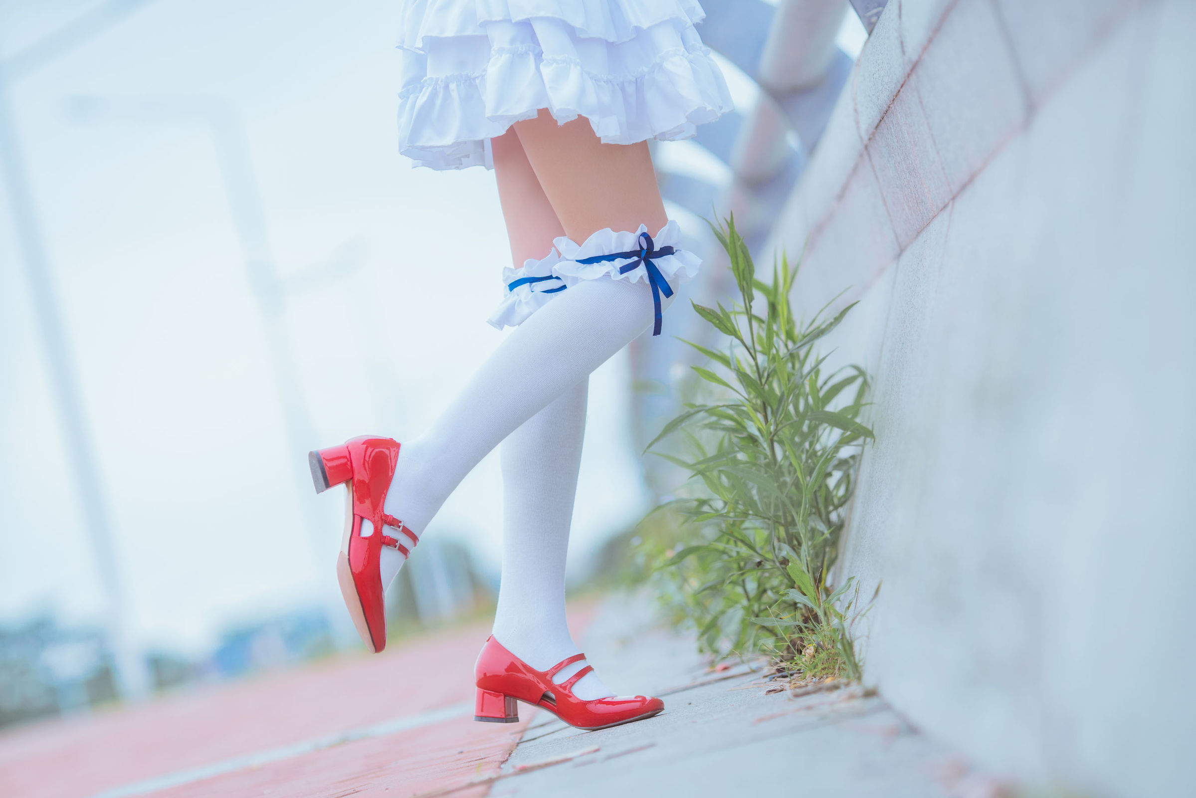 红衣白帽初印象 粉红睡衣白丝袜-桜桃喵《路人女主的养成方法》加藤惠COS  动漫漫画 第33张