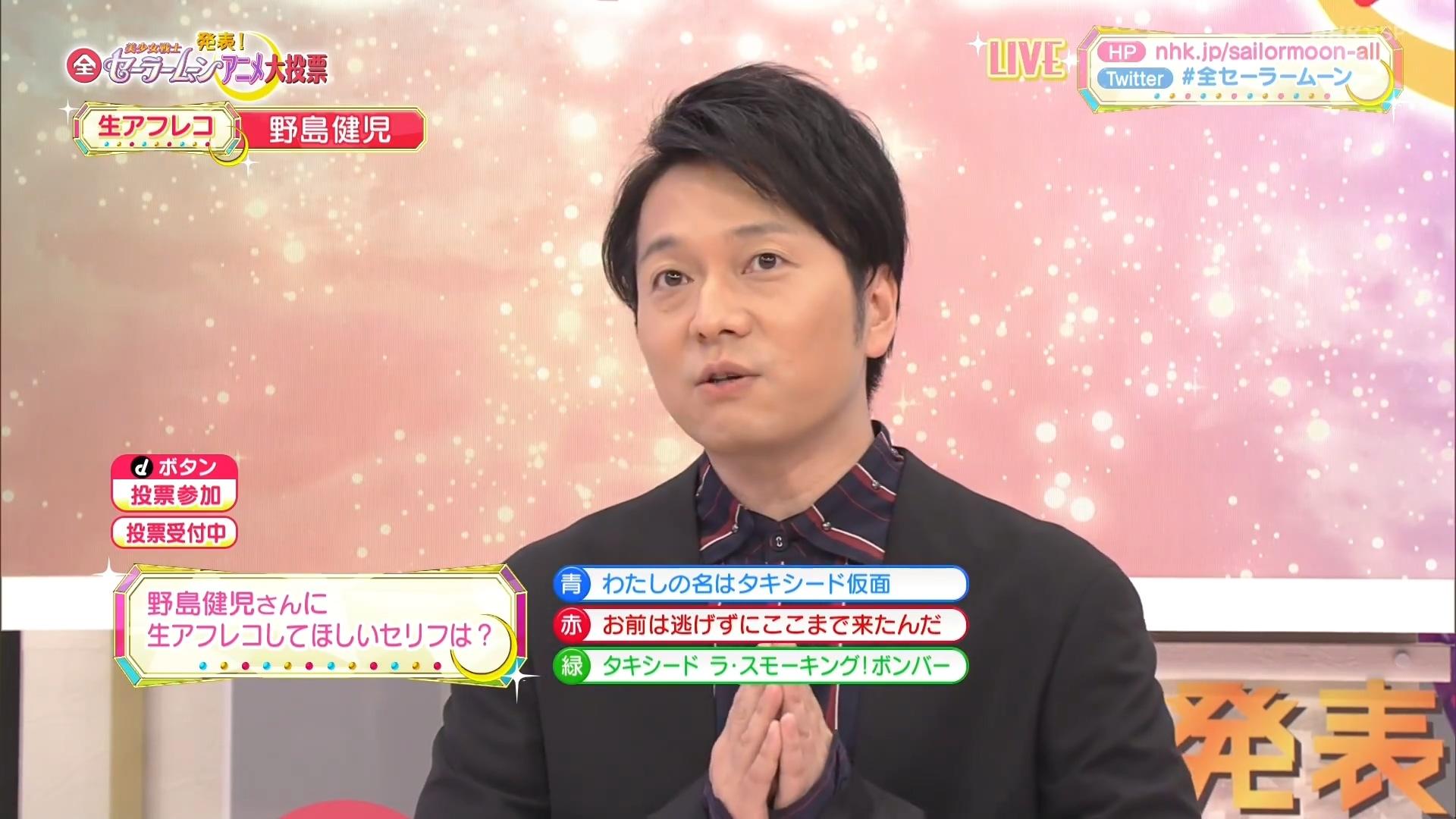 NHK 美少女战士 动画全系列 大投票 野岛健儿