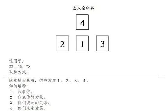 塔罗牌基础教程:三无牌阵(三张无牌阵占卜、万能排阵)