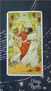 塔罗速解教学:78张韦特塔罗牌之圣杯三