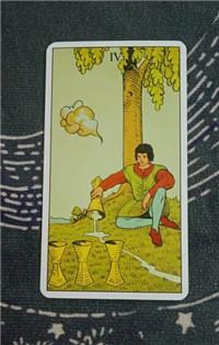 塔罗速解教学:78张韦特塔罗牌之圣杯四