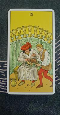 塔罗速解教学:78张韦特塔罗牌之圣杯九