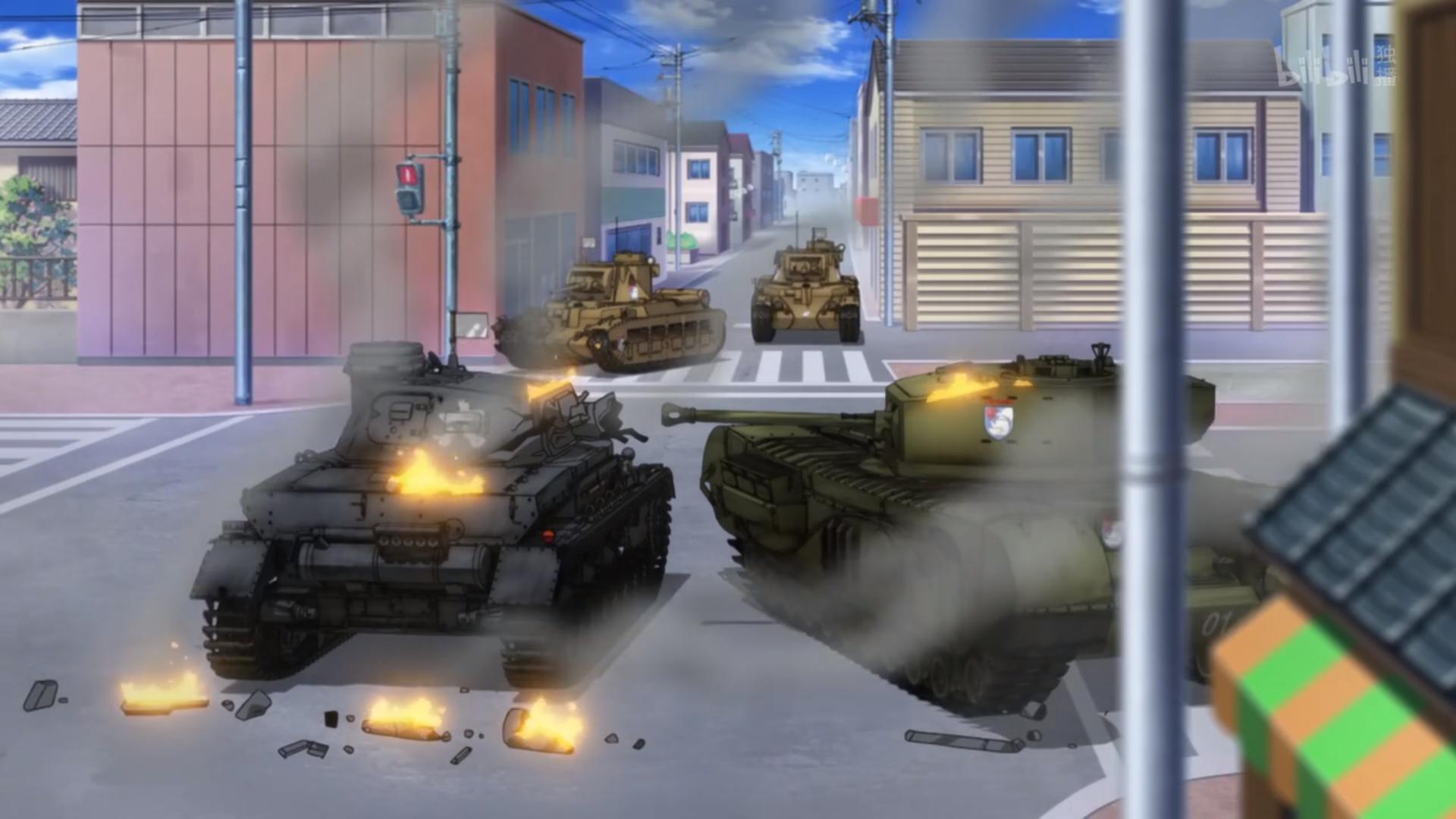 动画《少女与战车》可以全家观赏的轻松愉快的战车对战 (4)